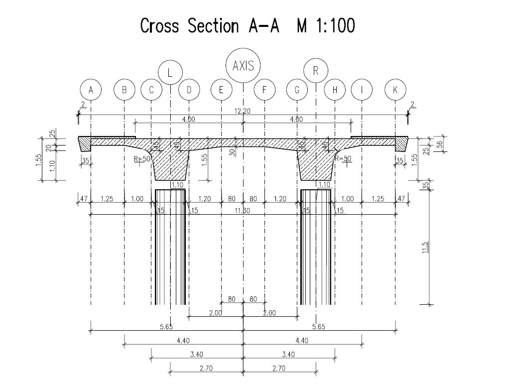 Double T-Beam Post Tensioned Concrete Bridge — SOFiSTiK