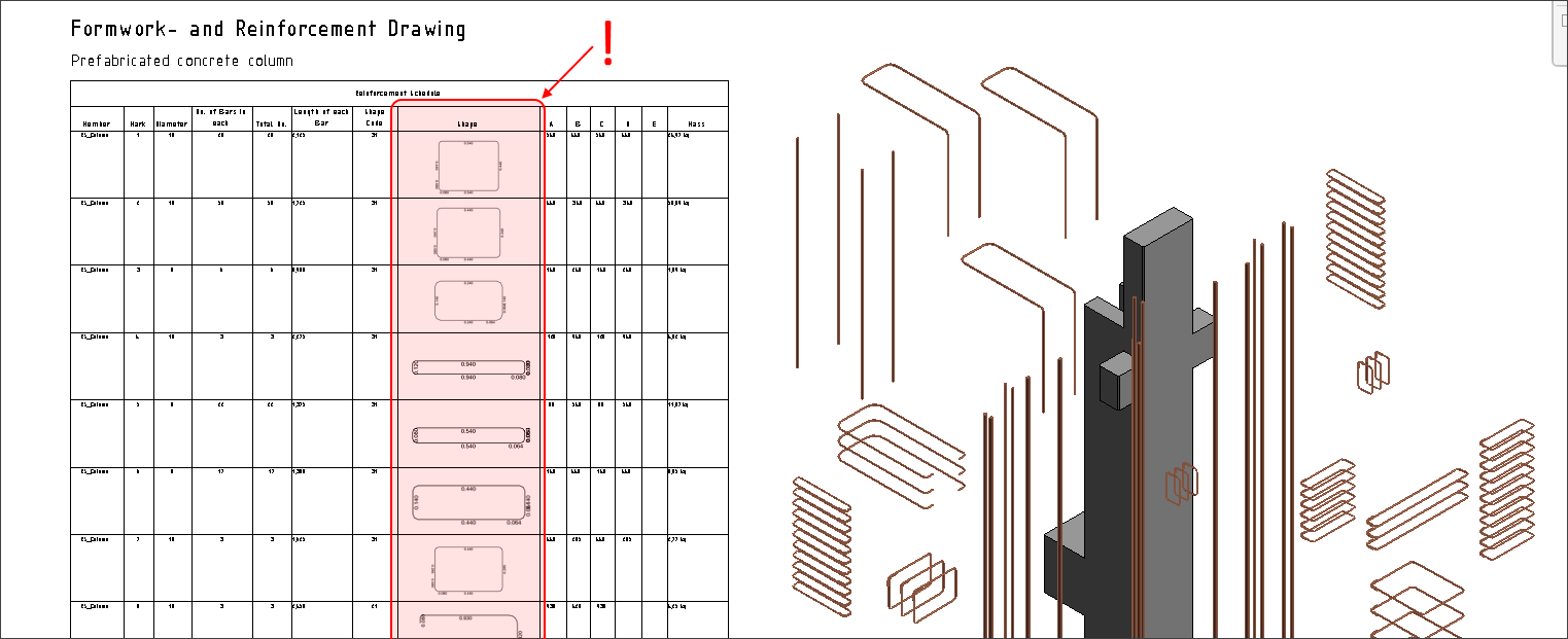 Tip: How to insert Shape Images to Revit Schedules — SOFiSTiK